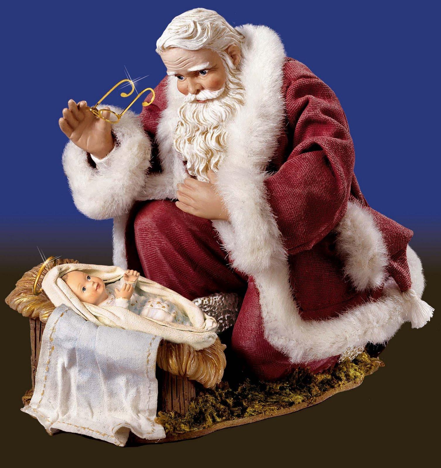 442fff6cc3ca Eis uma belíssima e, principalmente, autoexplicativa imagem do Papai Noel  ou São Nicolau: adorando o menino Jesus. Nesta imagem todos nós, católicos,  ...
