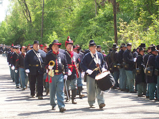Musicians in 150th Anniversary Lincoln Funeral Procession.
