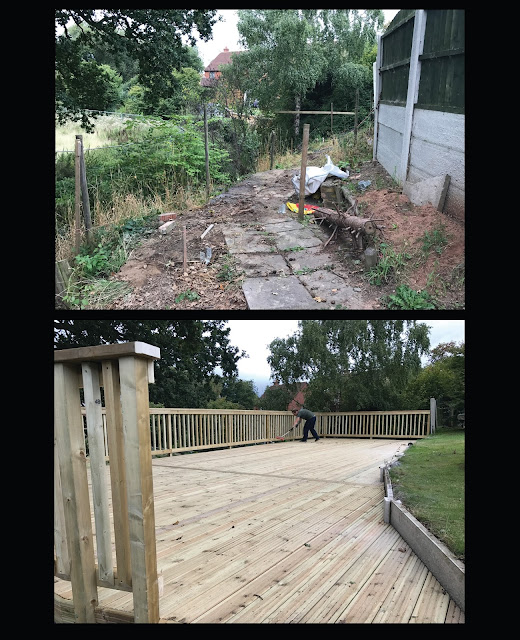 Sloping deck
