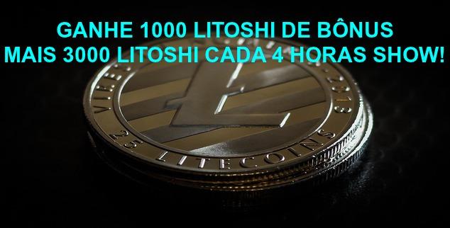 GANHE LITECOIN GRÁTIS 1000 LITOSHI DE BÔNUS DE ENTRADA