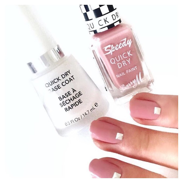 barry m speedy quick dry nail polish pink