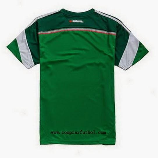 d1fa1b61ef375 La camisetas de futbol seleccion Mexico 2014 2015 es de color verde con dos  tonos diferentes de color verde que ofrece