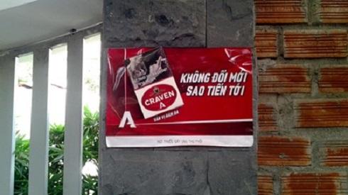 Gia Lai: Công khai quảng cáo thuốc lá?