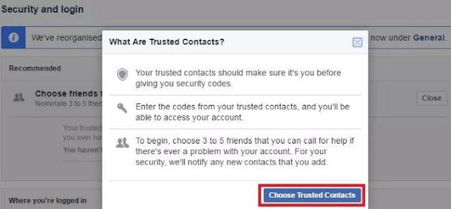 Cara Menetapkan Kontak Tepercaya Facebook untuk Memulihkan Akun 5