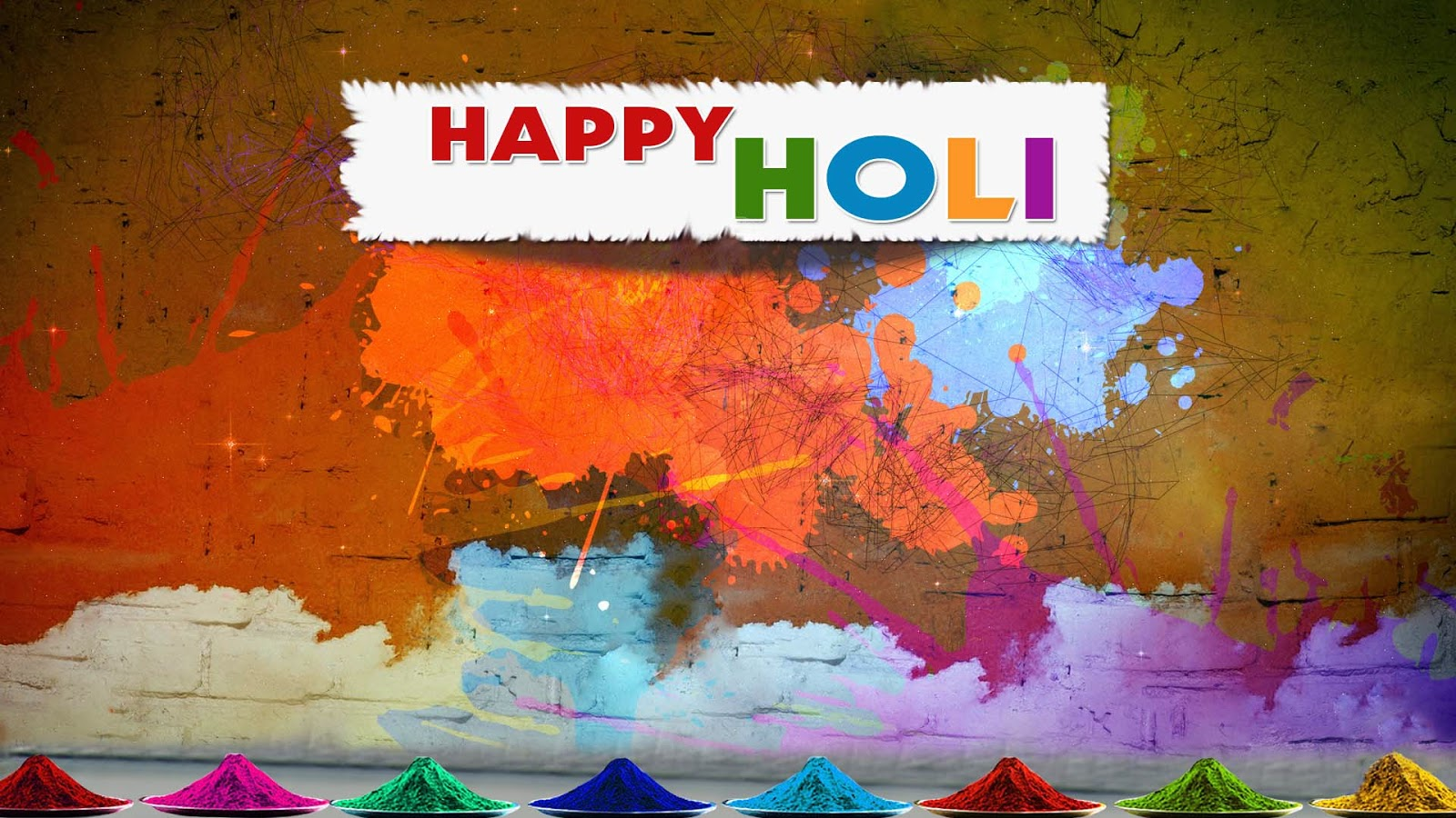 Happy Holi Gulal Rang Full HD Wallpaper