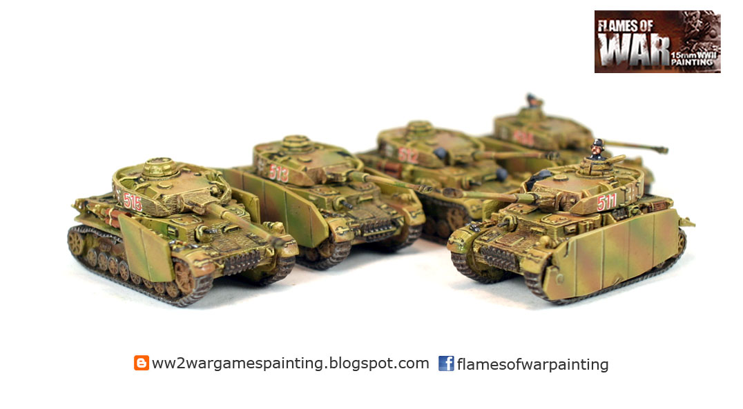 Battlefront 15mm Panzer IVH Platoon, Panzerkompanie painting by Flames of war painting