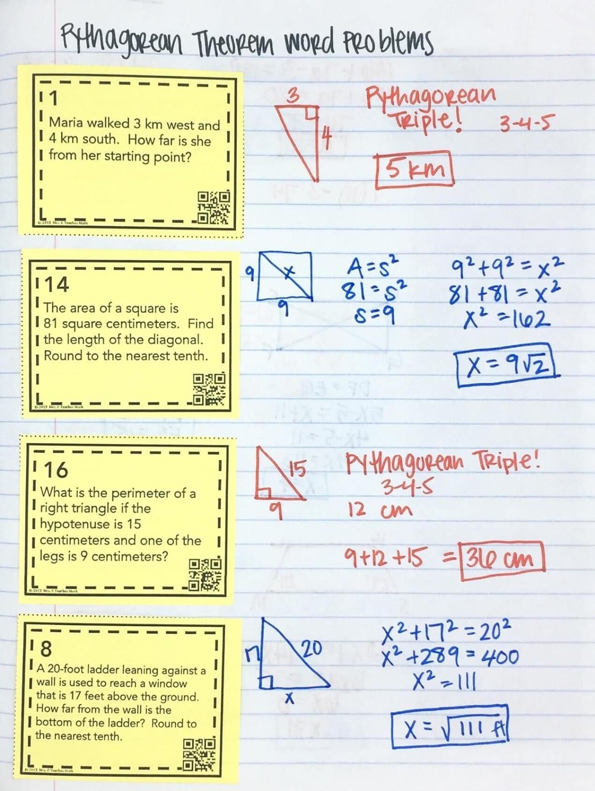medium resolution of Pythagorean Theorem INB Pages   Mrs. E Teaches Math
