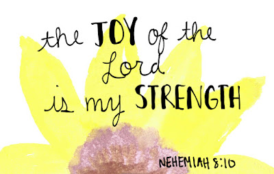 the Joy of the Lord is my strength Nehemiah 8:20 watercolor bookmark