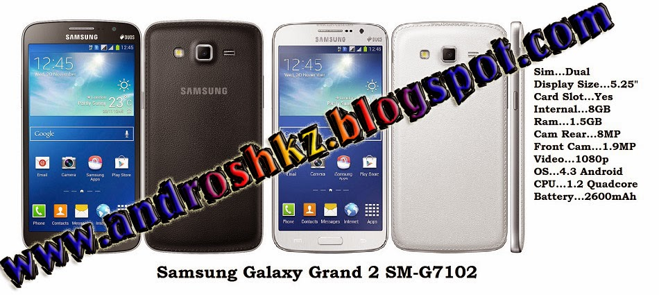 ANDROID WORLD: Stock Recovery Of Samsung Galaxy Grand Duos 2