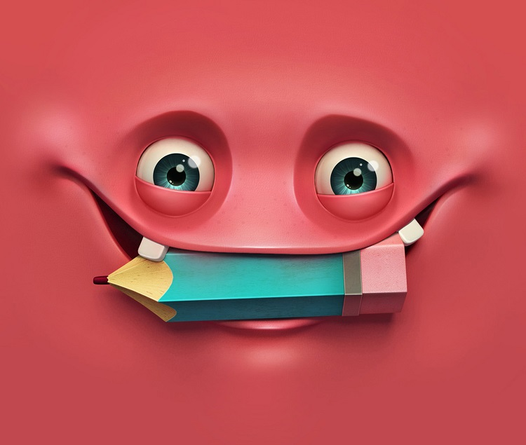 funny pink face wallpaper