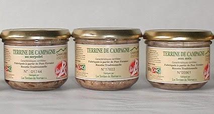 Le magasin d'usine des Terrines du Morvan en Cote d'Or