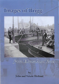 Front cover of the book Images of Brigg from Edwardian Times -  compiled by renowned local authors/historians John and Valerie Holland - see Nigel Fisher's Brigg Blog