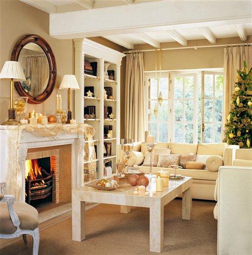 Idehadas interior design la navidad en el mueble - Salon con chimenea ...