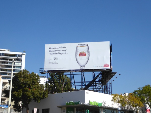 Stella Artois Clean drinking water billboard