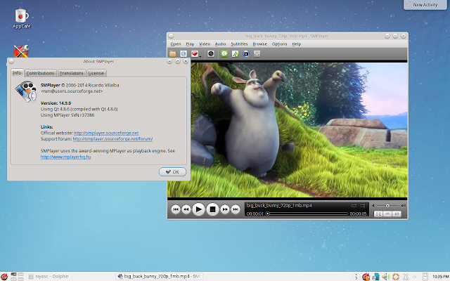 SMPlayer running in PC-BSD