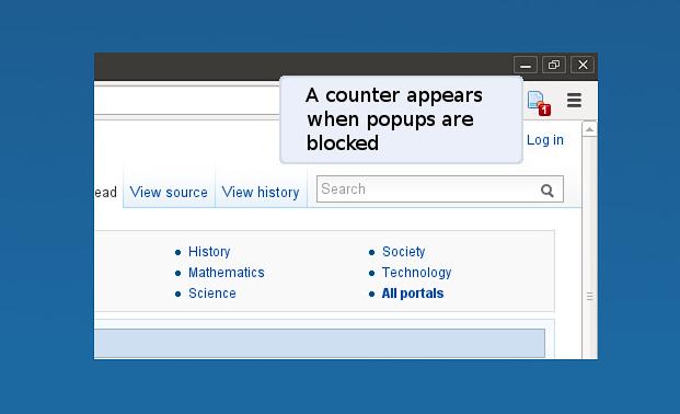 تحميل اضافة منع النوافذ المنبثقة المزعجة JavaScript Popup Blocker