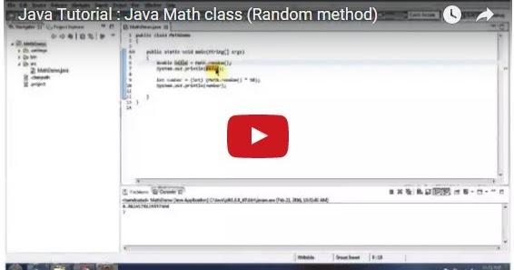 Java ee java tutorial java math class random method for Pool design pattern java