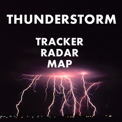 Thunder and lightning map