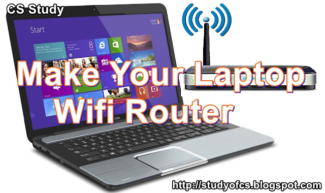 Make Your Laptop Wifi Router