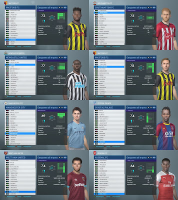 PES 2019 Big Facepack Premier League by Andrey93