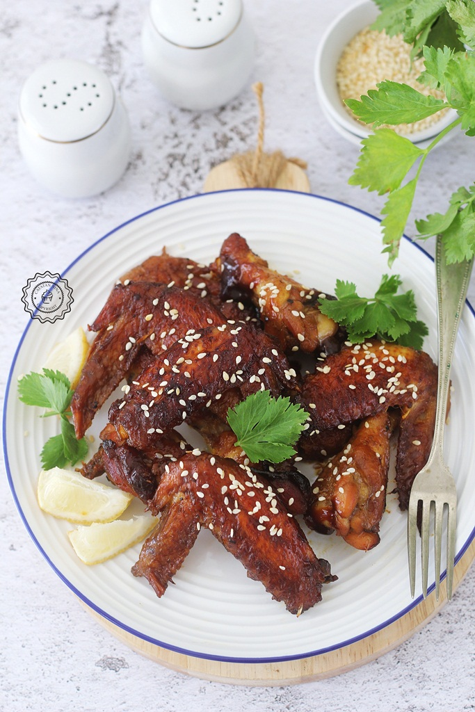 BAKED CARAMEL CHICKEN WINGS