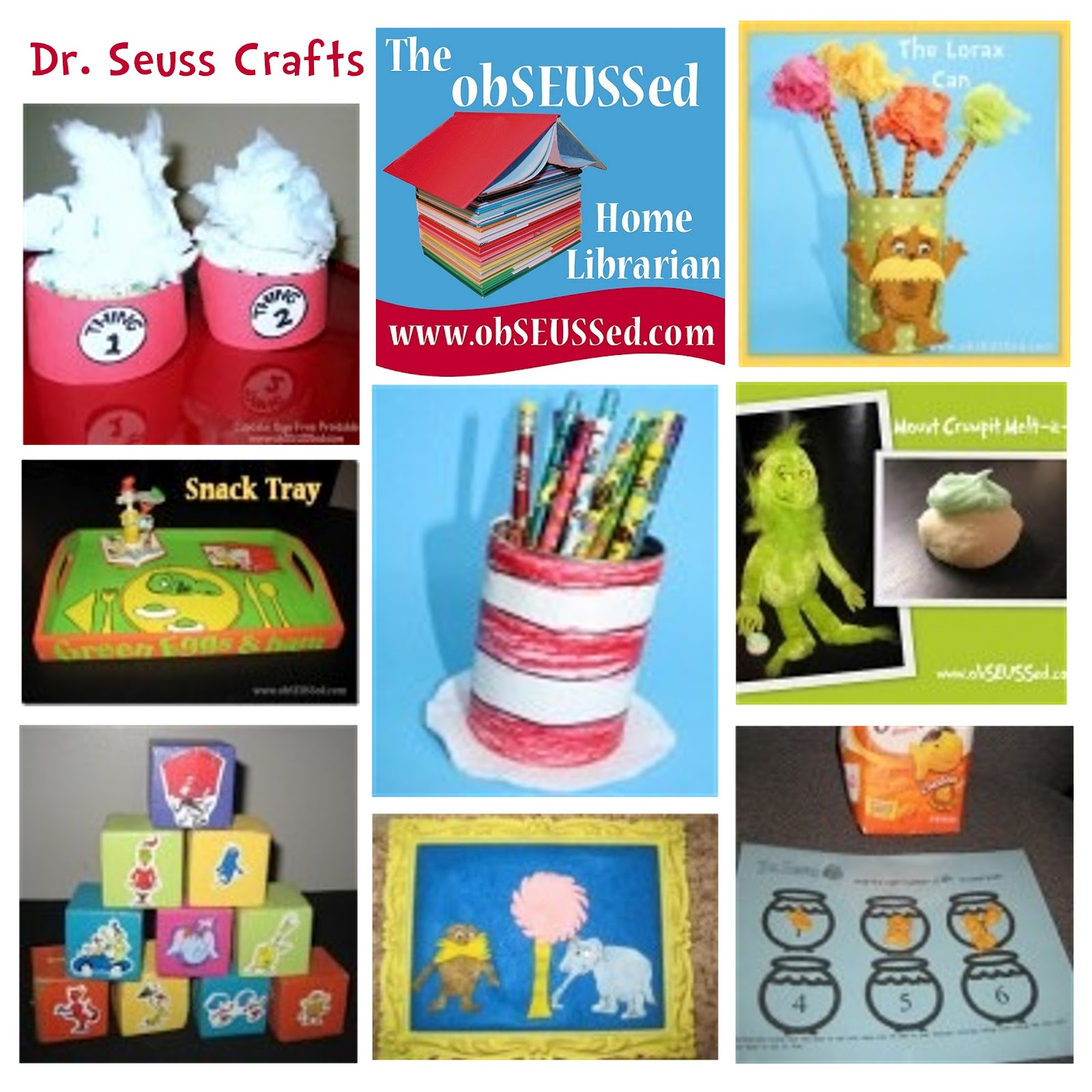 Obseussed Dr Seuss Crafts By Obseussed