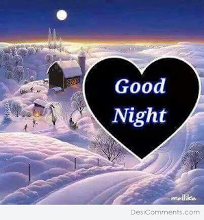 Good night picture with love or heart image
