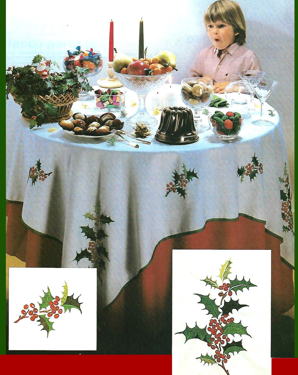 Mantel bordado para Navidad que atrae suerte y fortuna