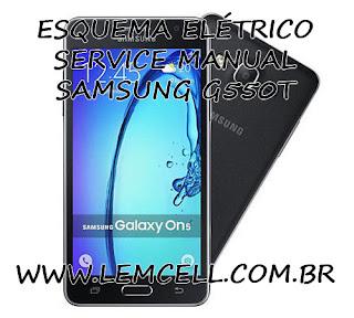 Esquema Elétrico Smartphone Celular Samsung Galaxy On 5 G550T Manual de Serviço Service Manual schematic Diagram Cell Phone Smartphone Samsung Galaxy On 5 G550T