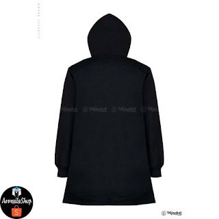 HJ14 Hijacket BASIC Black x Grey ORIGINAL PREMIUM FLEECE JAKET HIJAB JAKET MUSLIMAH