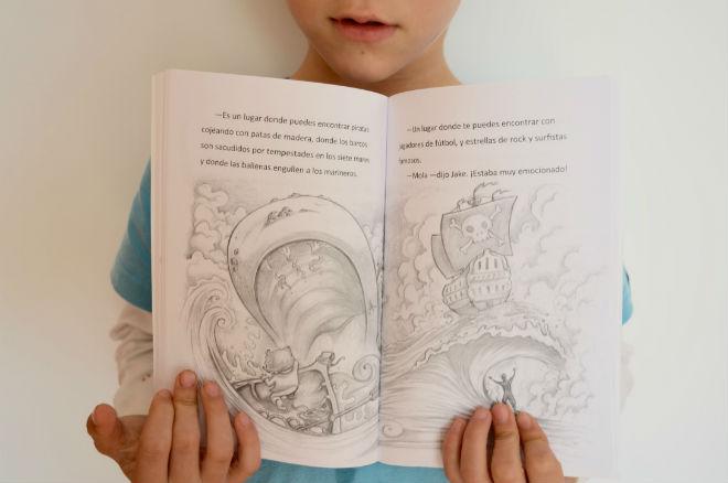 colección jake, interior cuentos, libros infantiles