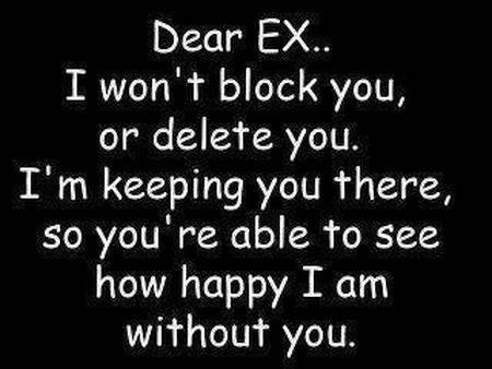 ayat sentap untuk ex