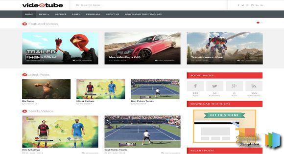 VideoTube - Free Responsive Blogspot Template