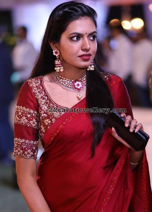 Rajashekar Daughter Shivani Kundan Choker