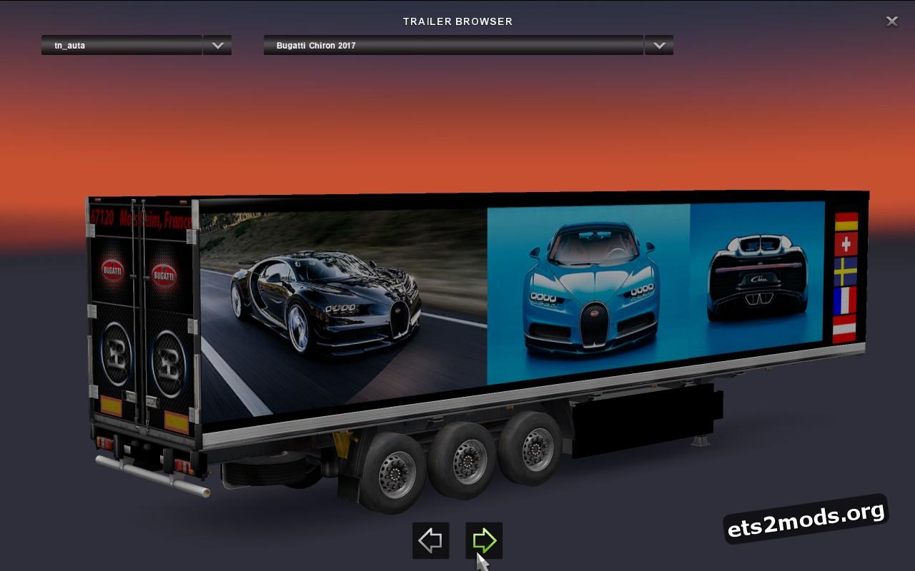 Trailer Bugatti Chiron 2017