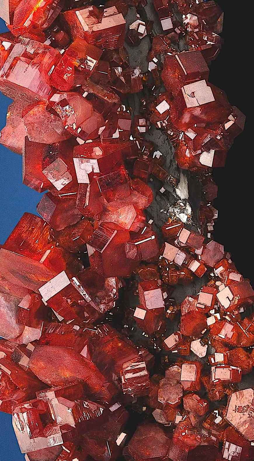 a color photograph of red vanadinite