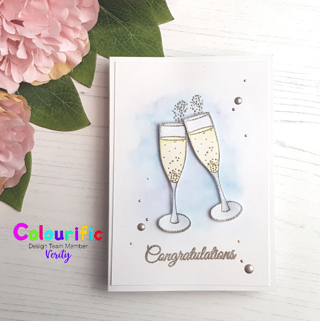 Handmade congratulations toast card made by Verity Biddlecombe