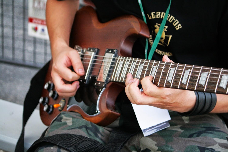 Guitare électrique brocante musicale