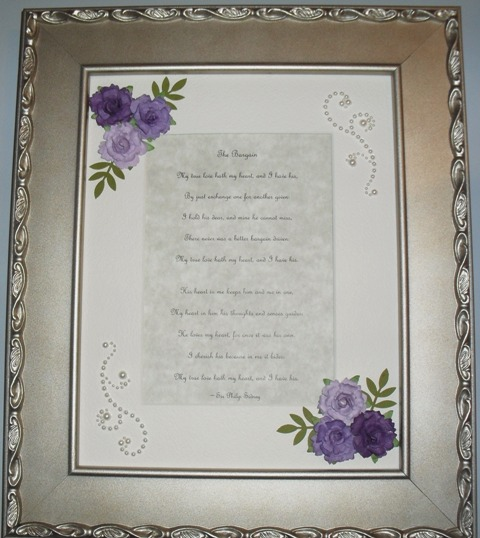 65 Wedding Anniversary Gift: Madame Frog's Craft Blog: 65th Anniversary