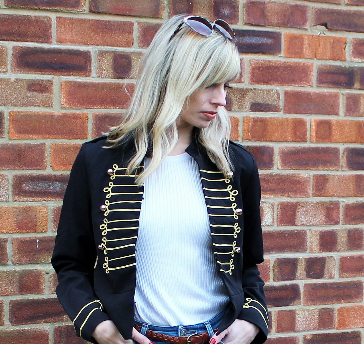 OOTD featuring a cropped military jacket from Shein - 1