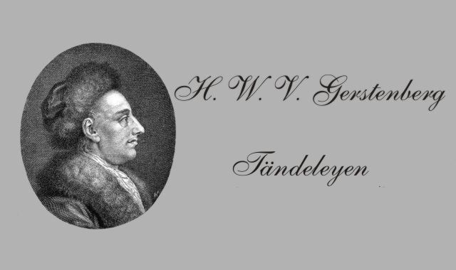 H.W.v.Gerstenberg- deutscher Lyriker
