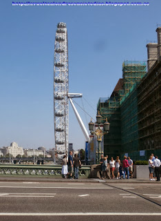 Noria del London Eye desde el Westminster Bridge