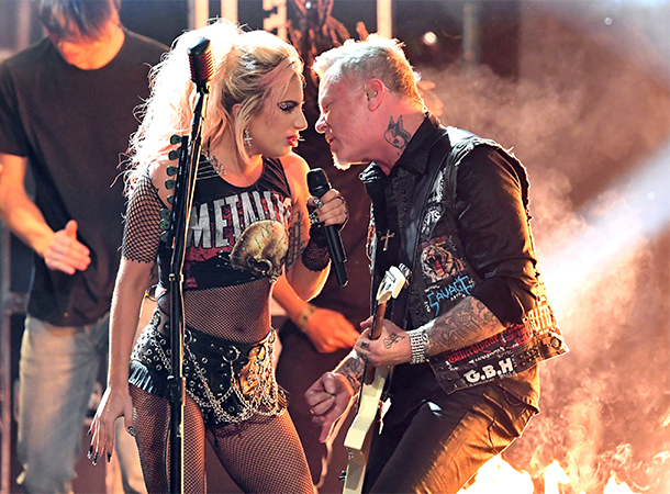 Lady Gaga and Metallica Performs at 59th Grammy Awards