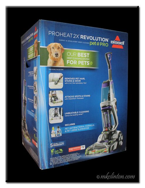 Bissell Proheat 2x Revolutions Carpet + Upholstery Deep Cleaner box
