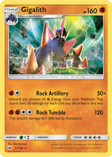 Gigalith Sun and Moon Pokemon Card