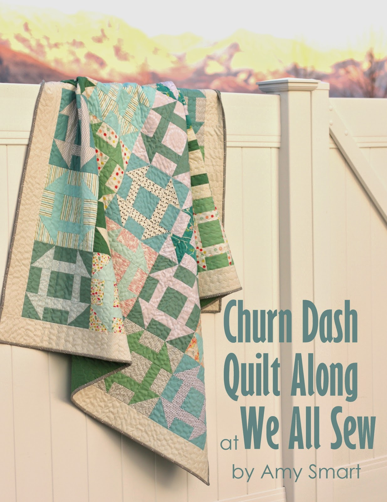 Free Churn Dash Quilt Along tutorial pattern by Amy Smart