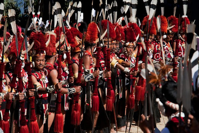 Yimchunger warriors, Nagaland - Johan Gerrits photography
