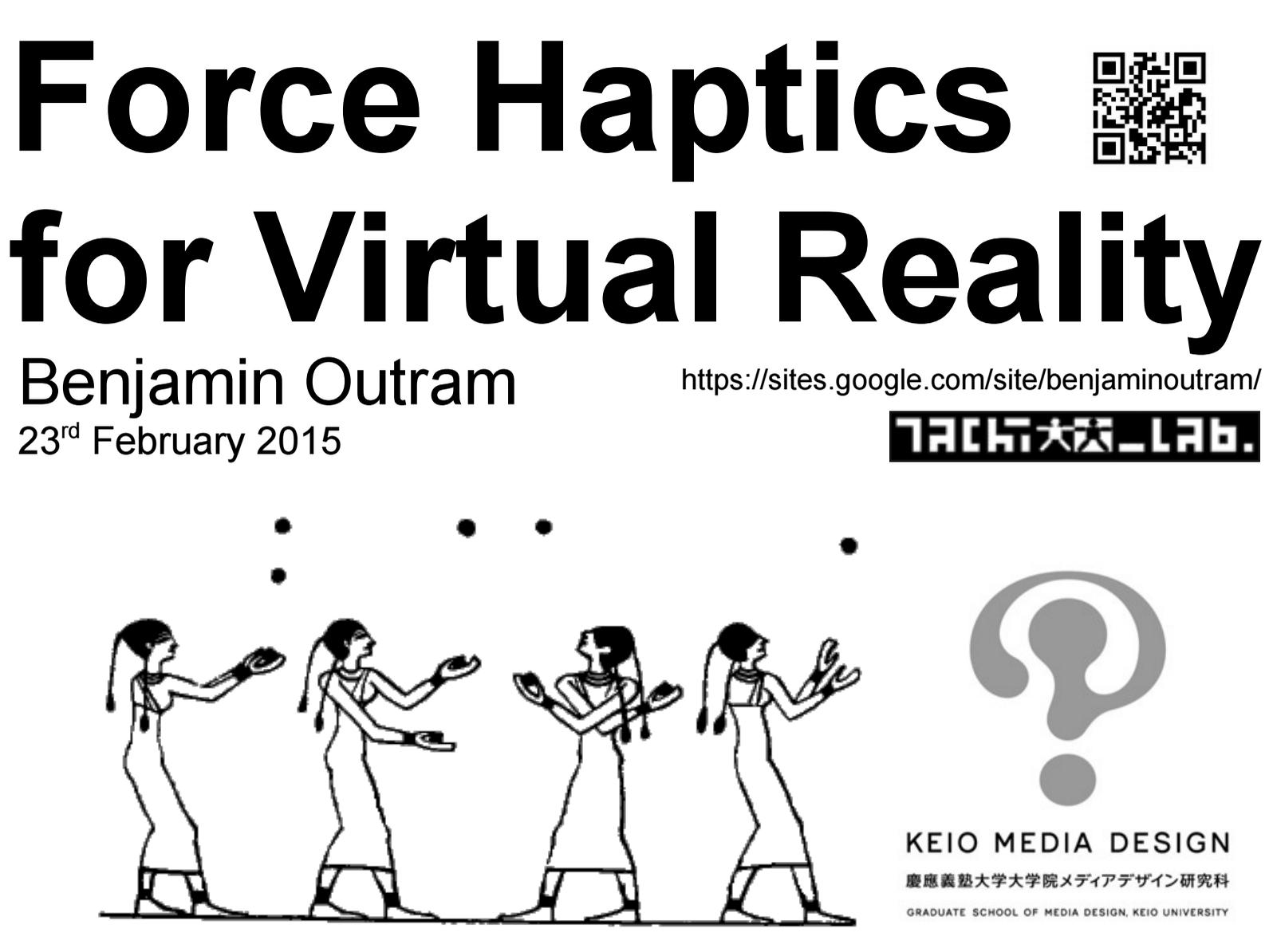 Virtual Reality and Haptic Interface Juggling