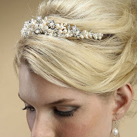 Freshwater Pearl and Rhinestone Flower Bridal Tiara