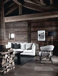 diseño sala estilo rústico